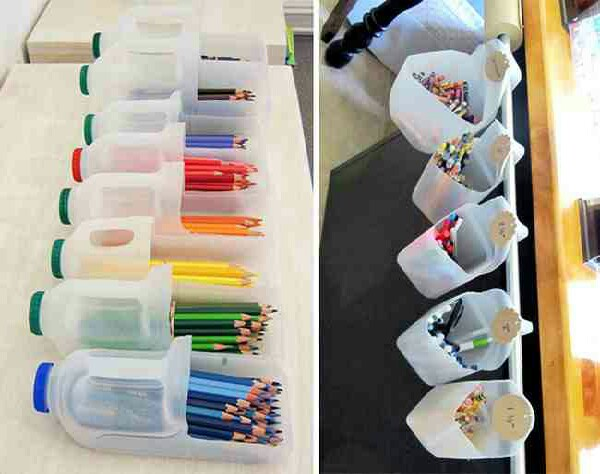 Pencil and crayon organizer for kids