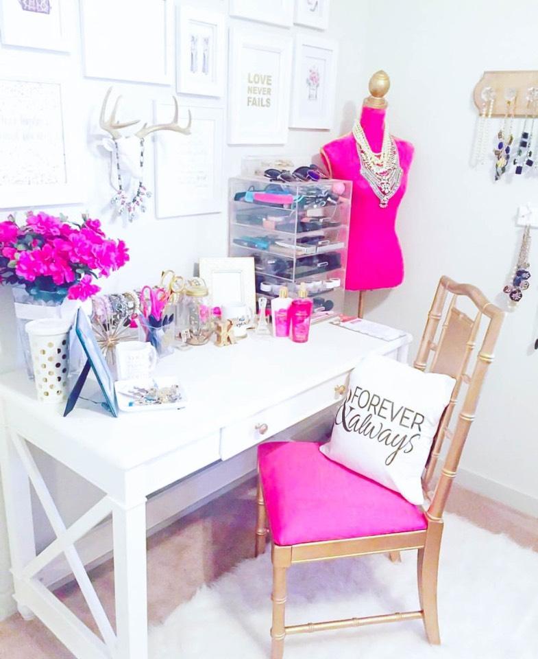 9. A desk space