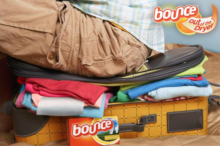 Help make musty suitcases smell fresh by placing an individual sheet of Bounce inside when traveling and while storing