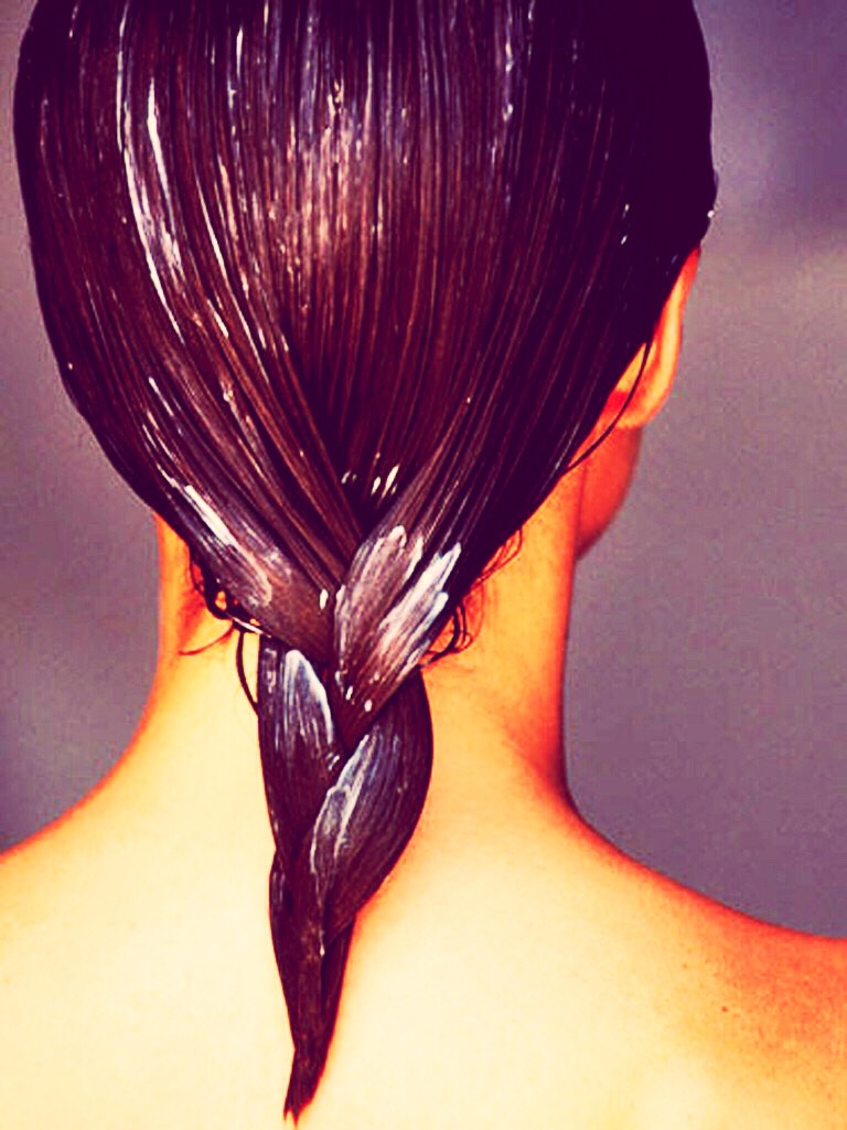 Do hair mask once a week or once a month to help damaged hair