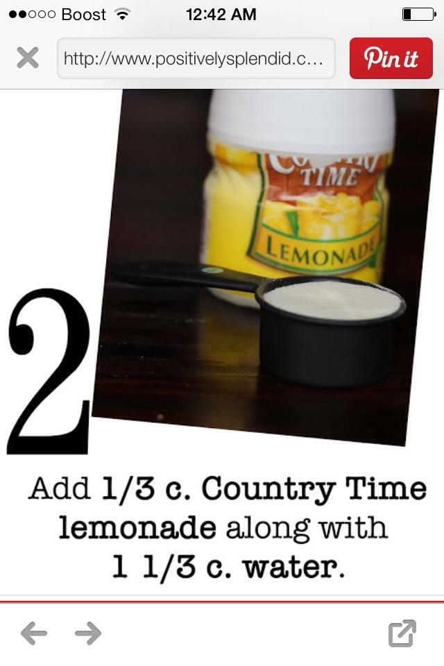 Add some lemonade