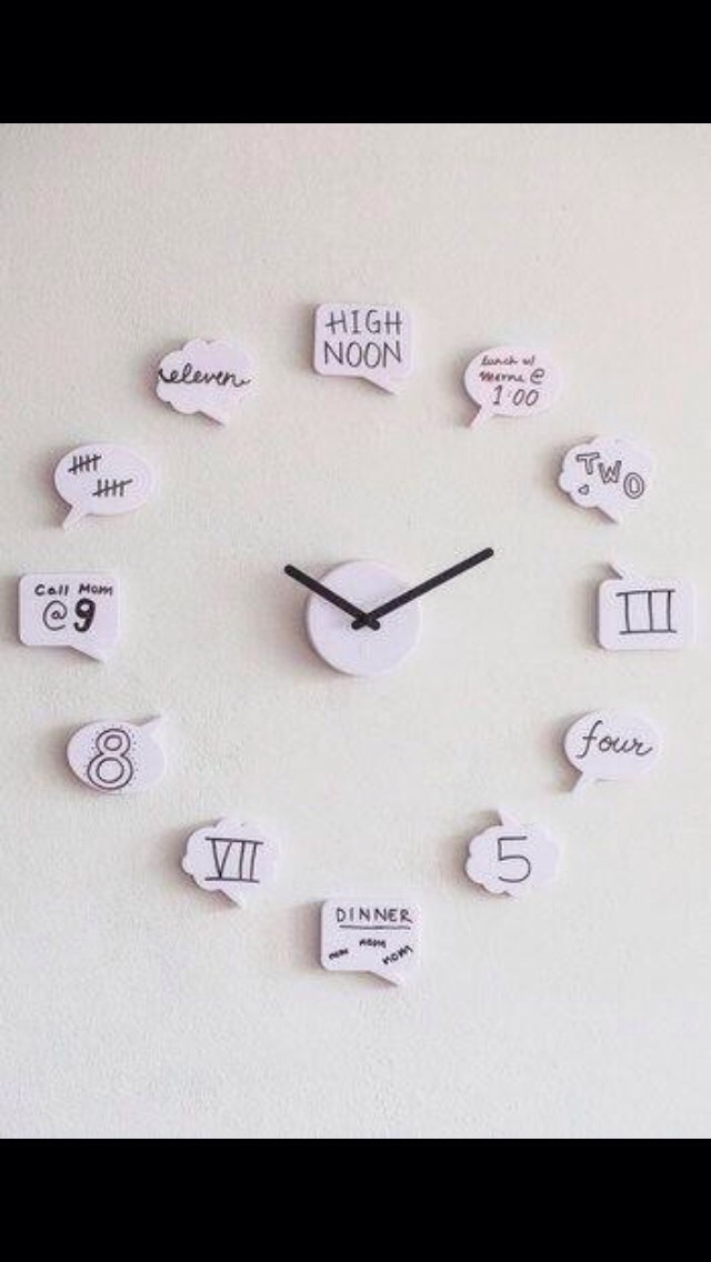 This clock is a great, creative wall decoration for your room!