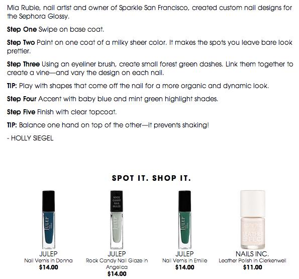 Use these polishes from Sephora!!