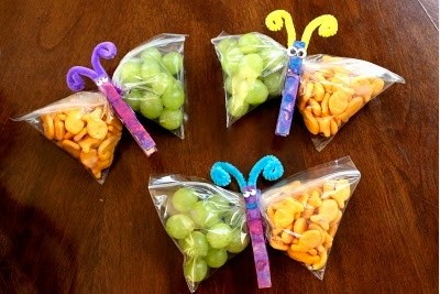 Great way to send cheese and crackers to school. This way it doesn't get your crackers soggy. Works we'll with any foods. Fruits and nuts is another gooder!