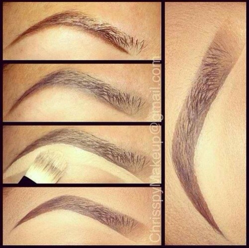 """Fill in brows from the outside in. """"When filling in the brows, I recommend working from the outside in to create the most natural shape. Brows typically need more definition on the ends so by using this method you're applying stronger color where you really need it."""