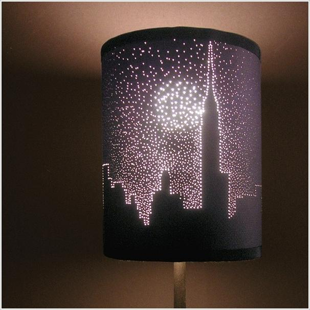 If you have a simple dark shaded lampshade then turn it into an amazing piece of art using pin poking technique.