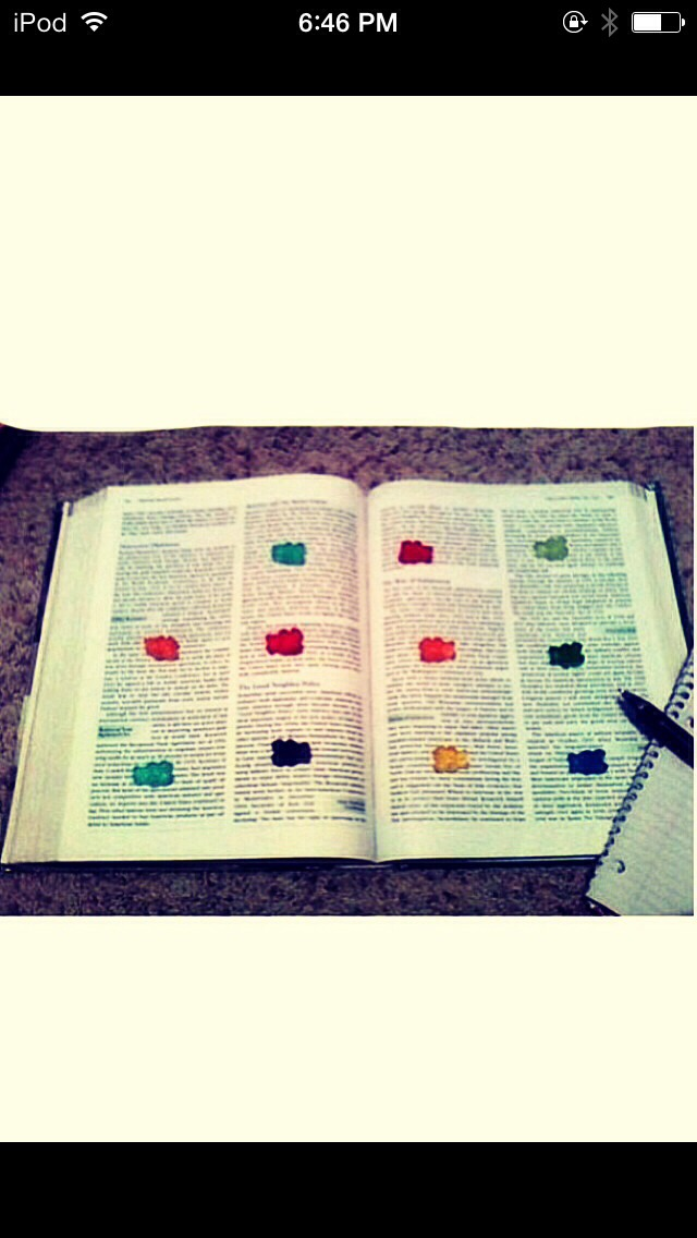 Place gummy bears on the paragraphs of your book. Reward yourself by eating the gummy bear after you've studied that part.