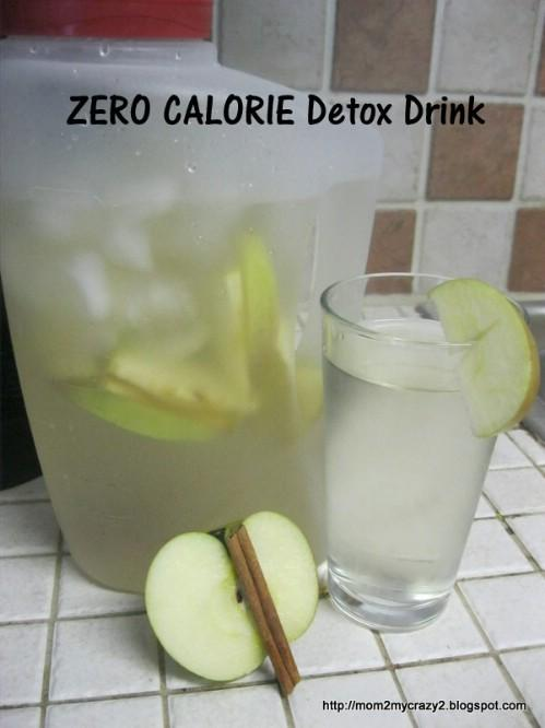 Here is water that's great for slimming down.  Ingredients: Thinly sliced apple and a cinnamon stick.