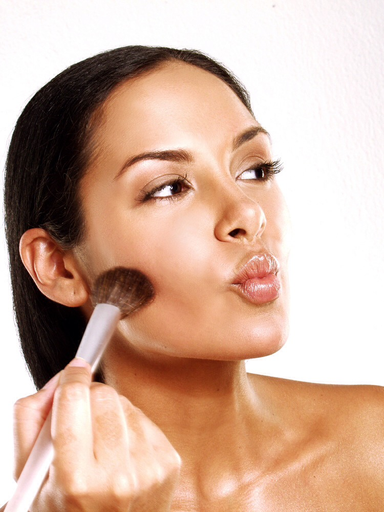 Step 2: Whipping winds may give you a natural flush, but rely on blush for a longer-lasting effect. Cream blush is the most moisturizing option for dry skin, and if you top your dewy cheeks with a matte blush in a similar color go with deep rose and peach tones for Fall), you'll heighten the pigment