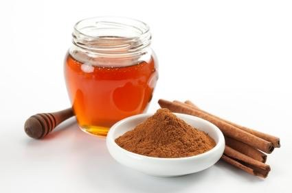 Mix honey and cinnamon together in a bowl. The amount varies depending on how much you want to make.