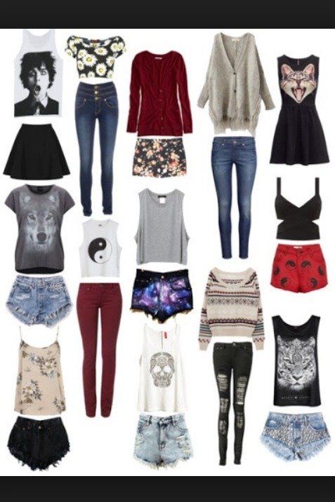 Here are some great ideas to look hipster✌️: galaxy shorts, ripped jeans, high wasted, ying yangs are on fleek, dark red and gray are main hipster colors ✌️