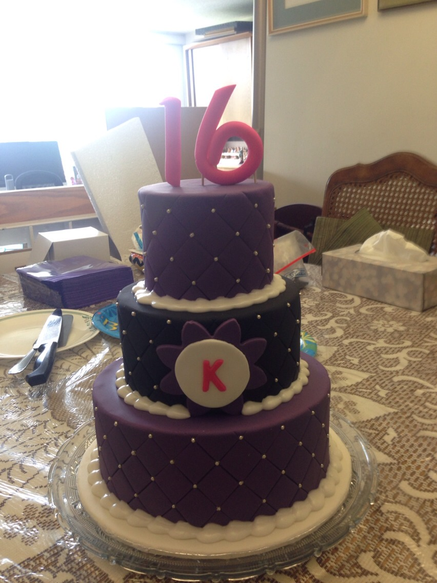 This is my sweet 16 cake! I designed it myself and have a copy to the bakery!