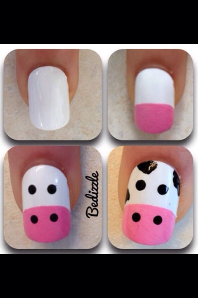 Simple cow nails🐮