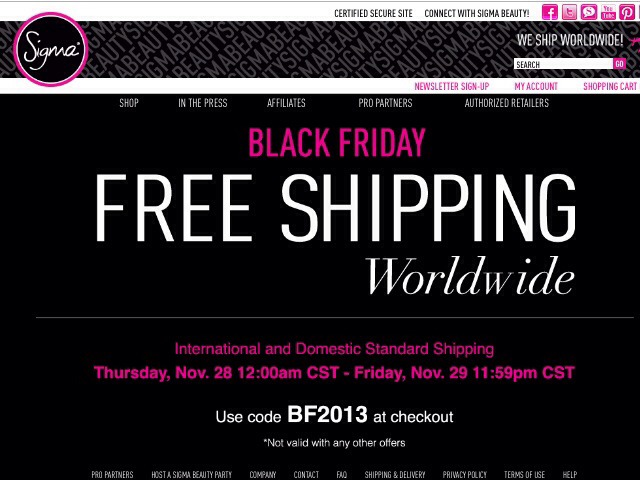 Sigma brushes are absolutely amazing with fabulous prices! Nov 28-29 you get free shipping.
