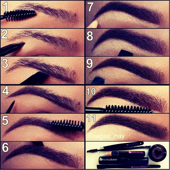 fill in your eyebrows, like normal