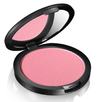 Apply the blusher to the apples of your cheeks