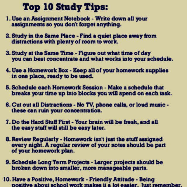 Do all the hard work first like writing summaries of the different topics.
