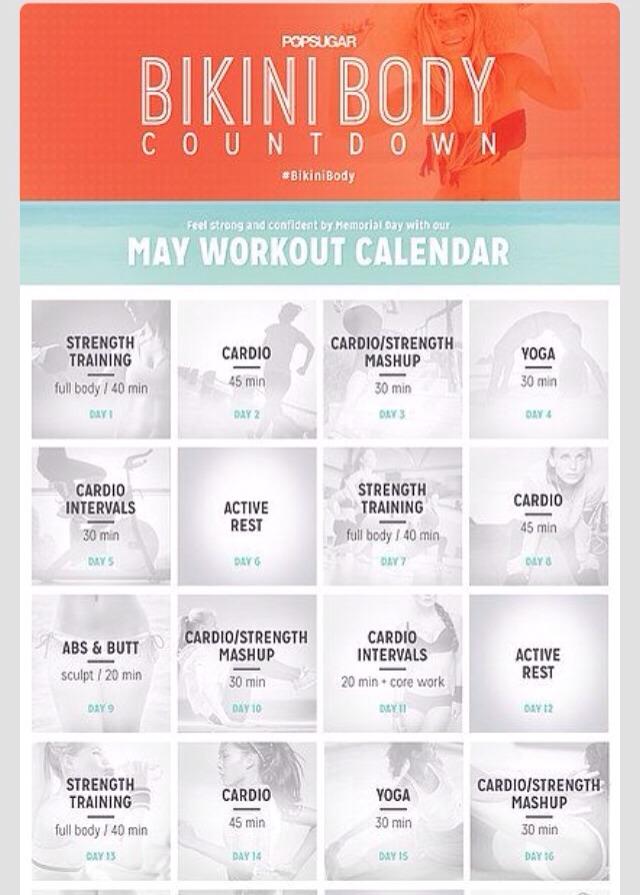 Get A Bikini Body In One Month