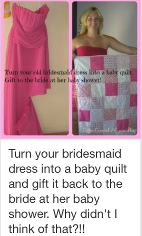 Beautiful way to use that dress you will never wear or outgrew!