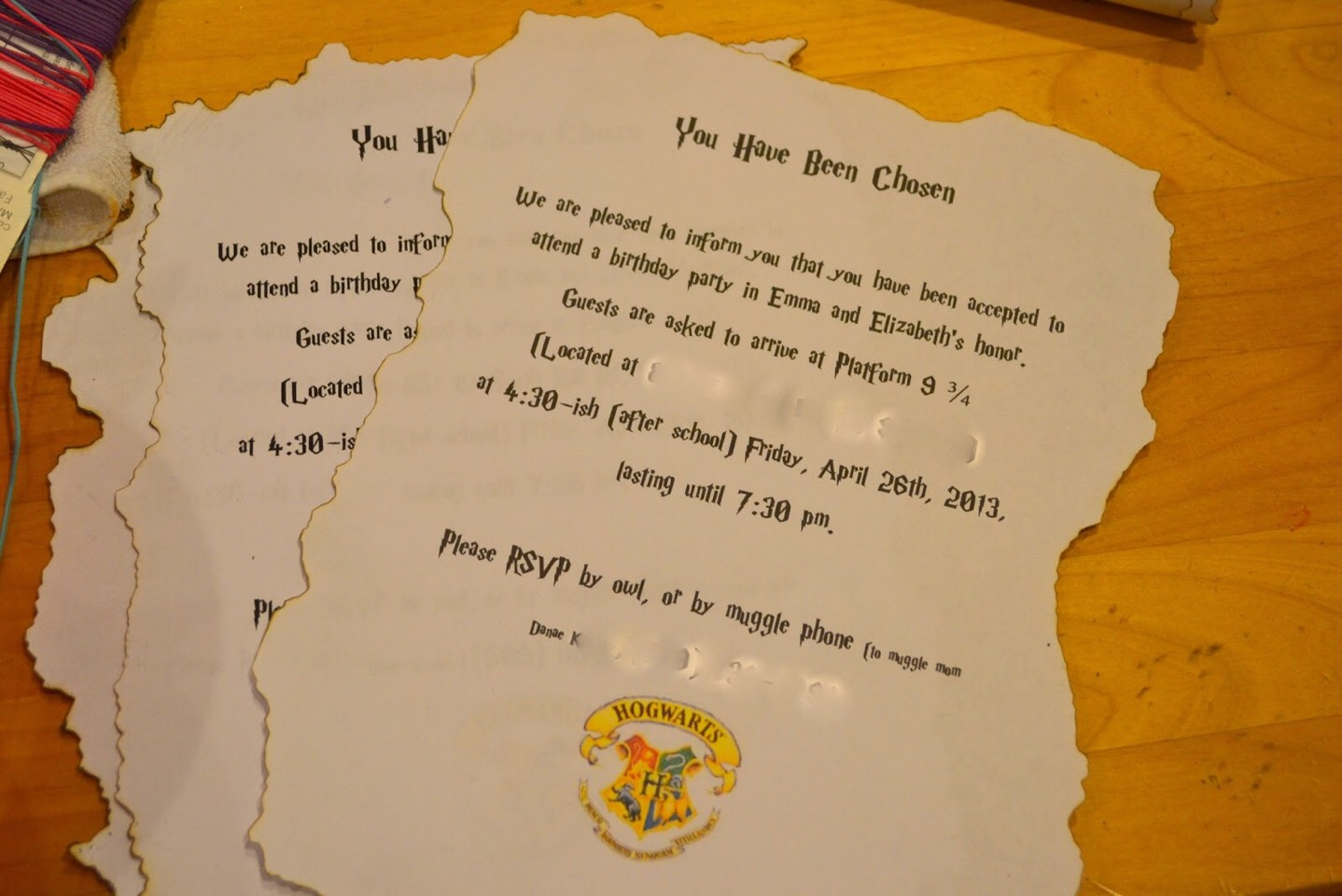 Harry Potter Party Invitation Ideas By A Sprecher