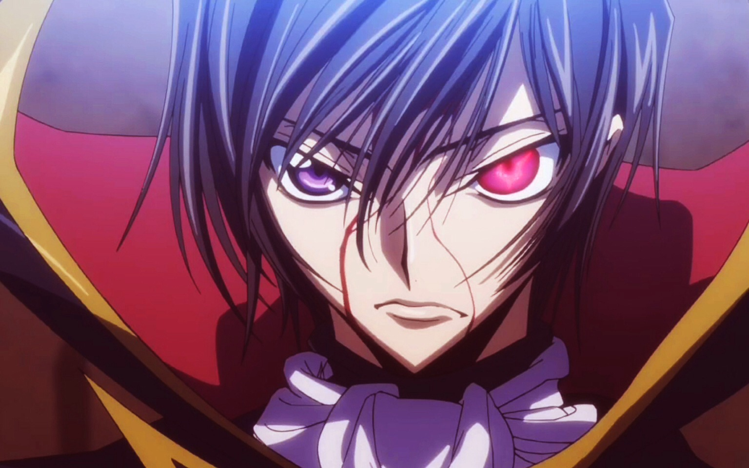 Code geass: a student receives a supernatural ability and uses it to wage a war.