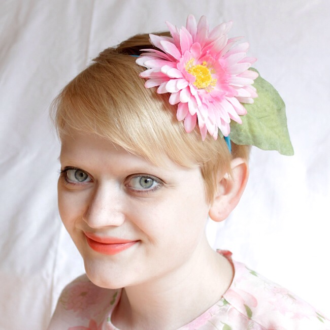 These fake flower headbands and boutonnieres are super cute, and don't require crazy scary (or spendy) supplies.