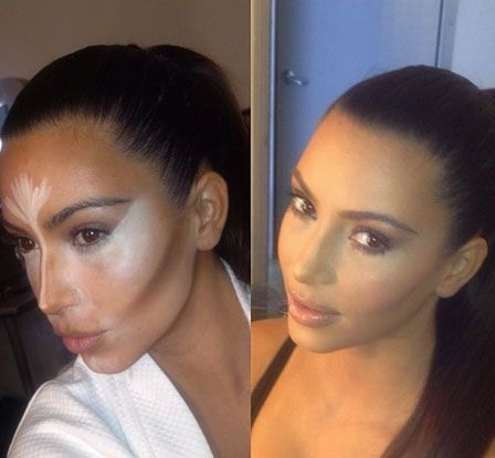 It's all in the contouring under foundation.