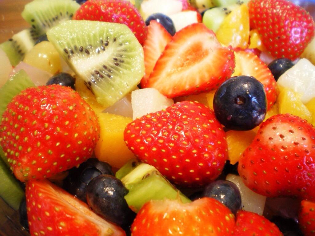 Always think fresh fruit first...