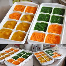 Do you have a baby or toddler??  Having to liquidise food for every meal can be a pain!! liquidise a few days worth of food (whether it be fruit or vegetables) and store it in ice cube trays and pop on the freezer!! Now everytime your babys hungry pop a cube out a heat for 40 secs and off you go!!