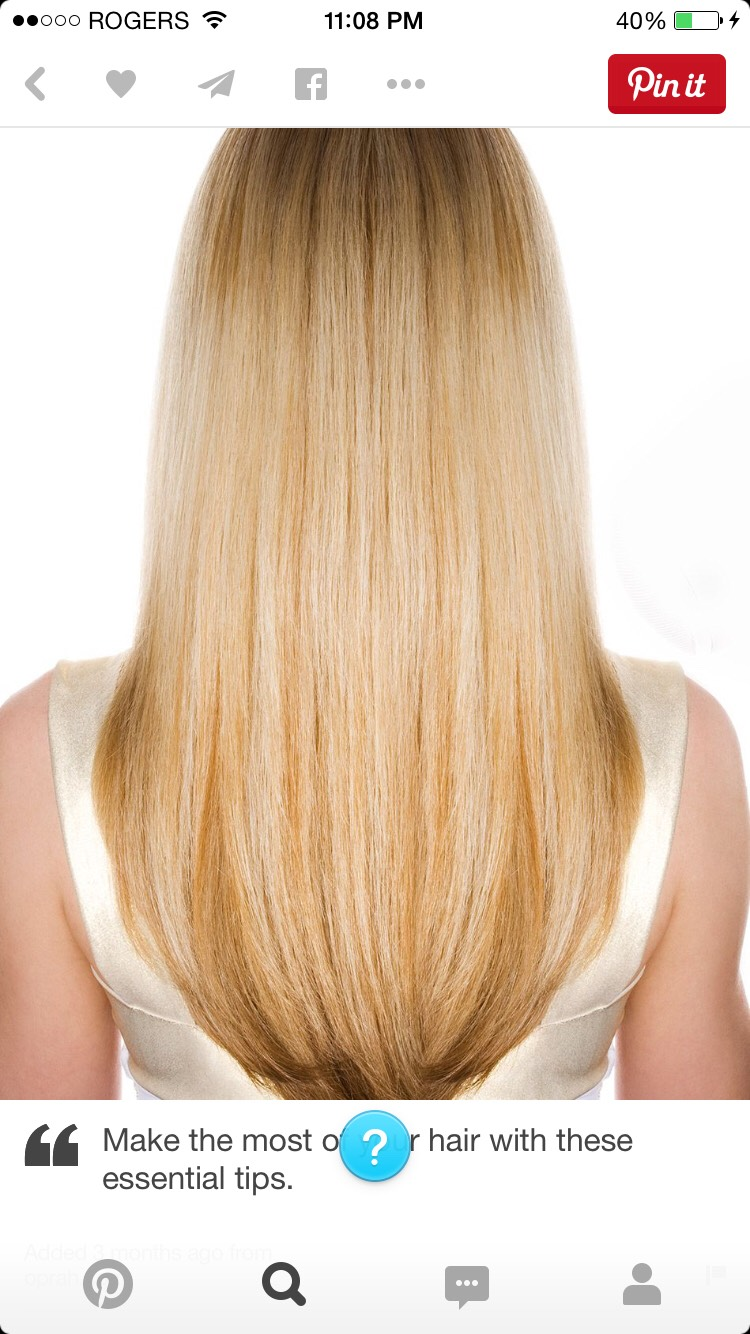 Get hair cuts about every 4 months to keep hair healthy and not straggly at the ends.