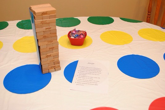 Use a twister mat at a table cloth 🍭