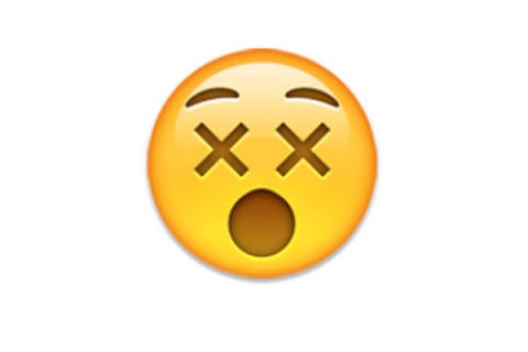 "4. Shocked The double Xs make this emoji appear to mean ""dead,"" but it is intended to demonstrate astonishment."