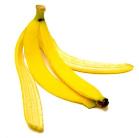 Rub the inside of the banana peel on your teeth. I know it sounds crazy but the acids in the banana peel attack the yellow coloring of your teeth without damaging your teeth keeping them nice and smooth!