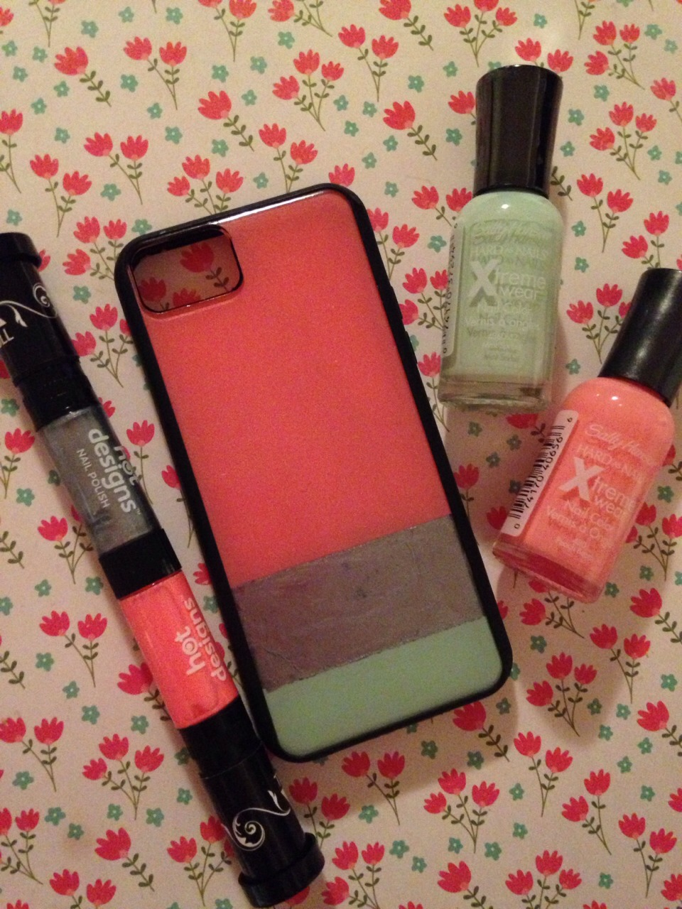 Paint Your Old Clear Phone Case With Nail Polish By Sadie Schmunk