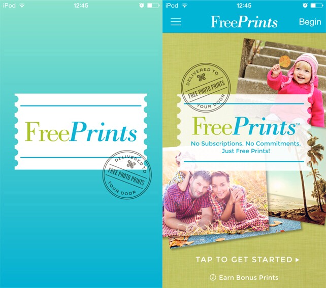 Freeprints app (also available in the App Store).