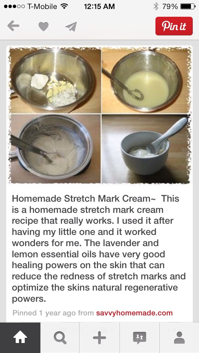 Homemade Stretch Mark Cream By Melania Havs Musely