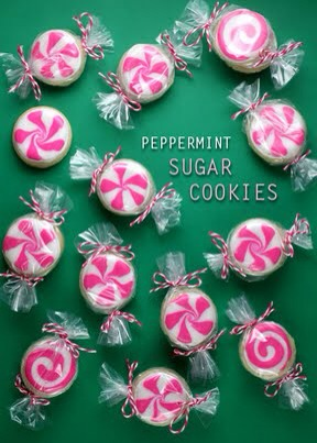 These bite-size sugar cookies are super fun and pretty easy to make and decorate. But I think the best part about them is how they are packaged to look like peppermint candy.