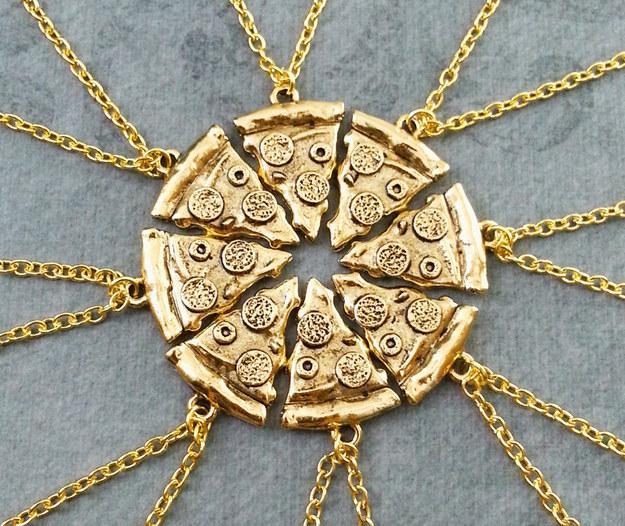 6. A set of friendship slice necklaces to share with your BFFs.