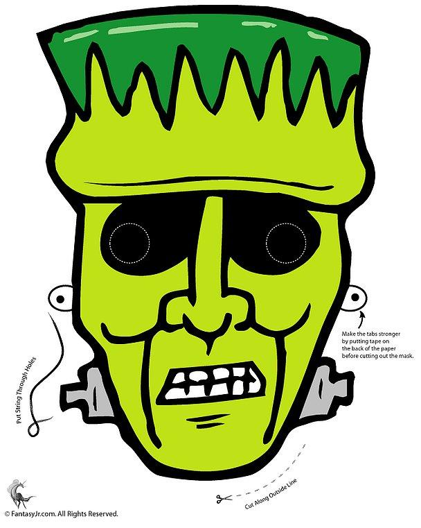 Frankenstein Mask If you're throwing a Halloween party this year and are in need of cheap, fun party favors, try an adorably ghoulish mask on for size! You can hand these out to guests as they enter (they'll be especially handy for those who show up costume-less).