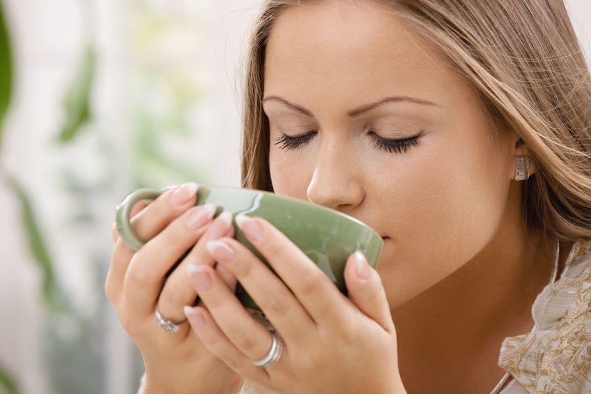 Go ahead and let it sit out for a couple minutes to cool. Depending on how hot you want it, sip up your yummy tasty green tea to soothe that sore throat. It's a very good hot and cold:) 👌🍵💯