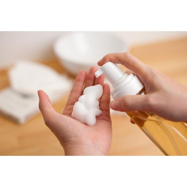 Materials:  • foam pump  • 4/5 water  • soap