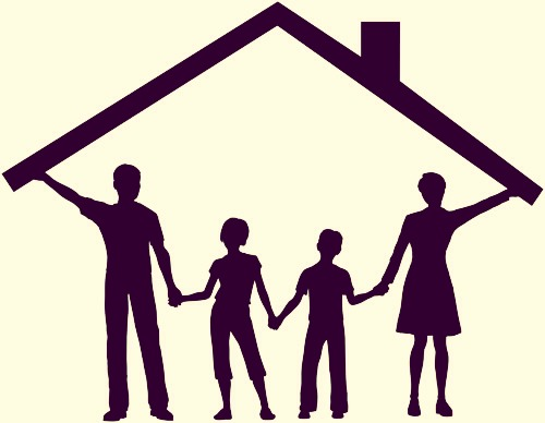 Family makes a home even if there's no place you can call a home just someone from YOUR family will make you feel safe a warm