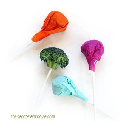 Vegetable lolly pops