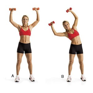 10 side bend (weights optional)