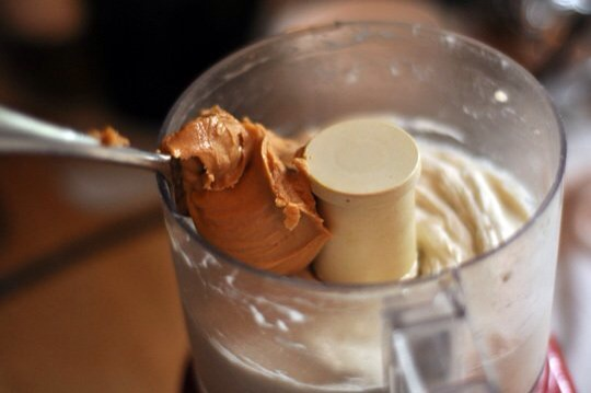 Now is the time to add a scoop of peanut butter or anything else you care to mix in.