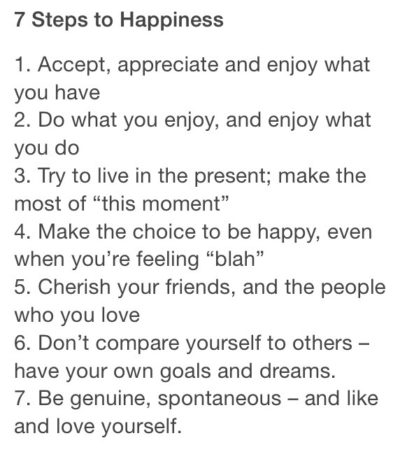 Delightful 7 Steps To Happiness 😁