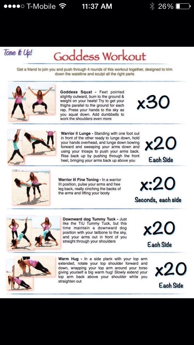 This is a quick and easy total body workout that you can do with a friend.