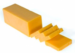 And some of you favorite cheese (she used velveeta). You'll need it in *slice* form.