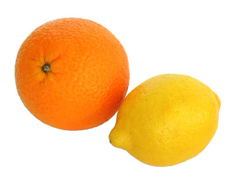 You can either have one or the other,from a lemon or tangerine. Cut these in quarters.
