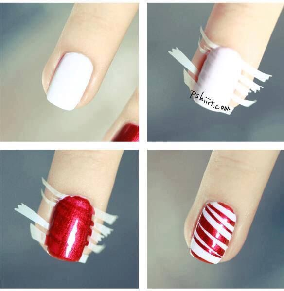 Could work as a festive peppermint design, or a sleek and stylish design!